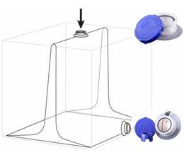 """QBIG IBC Liner 1000 L, 2"""" DN50 Deckel, 2""""DN50 PE ventil"""