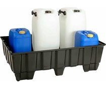 Opvangbak 1220x820x370 mm • 235 Liter • 9 poten