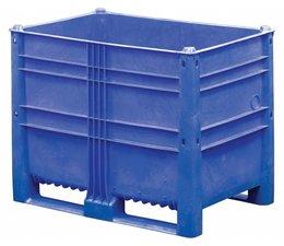 DOLAV Palettenbox 1200x800x950 mm, Volumen 652 l, 2 Kufen, geeignet für schwere Lasten und Lebensmittekontakt