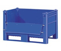 DOLAV Box Pallet 1200x800x740 • 500L blue • upper door