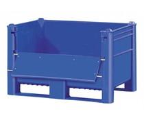 DOLAV Palettenbox 1200x800x740 • 500L blau • Ladeklappe