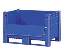 DOLAV Box pallet 1200x800x740 mm, volume 500 l, 2 skids, with upper door