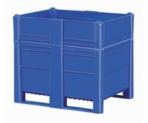 DOLAV Palletbox 1200x800x1000 • 700 L blauw gesloten