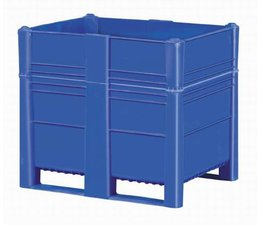 DOLAV Box pallet 1200x800x740 mm, volume 700 l, 2 skids, heavy duty, food proved plastic