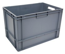 Euro container 600x400x400 solid • open handles