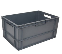 Euro container 600x400x320 solid • open handles