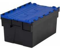 LOADHOG Attached lid container 600x400x310 blue • 56 Liter