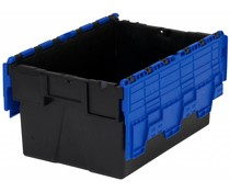LOADHOG Attached lid container 600x400x365 blue • 65 Liter