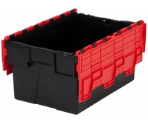 LOADHOG Attached lid container 600x400x365 red • 65 Liter