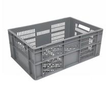 Euronorm krat • glazenkrat 600x400x240 geperforeerde wanden en bodem