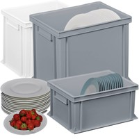 Plastic plate crates for restaurants and catering