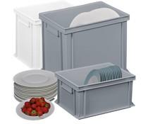 Kunststoff Tellerbehälter für Gastronomie und Catering