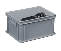 Cutlery bin 400x300x220 solid walls and bottom