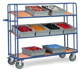 Etagenwagen 1250x610x1560 • 3 Etagen • verstellbare Böden • ohne Kästen