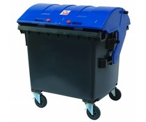 Afvalcontainer rond deksel • 1100 Liter • draagkracht 510 kg • Standaard Grijs