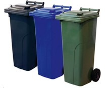 Waste bins with 2 wheels