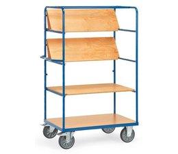 Etagenwagen 1000x700x1800 • 3 faltbaren Etagenböden • Holzböden