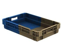 Drehstapelbehälter 600x400x123 geschlossen, 22 Liter, 2 Handgriffe • Bi-Color