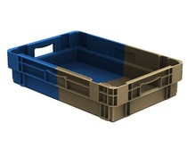 Stack nest container 600x400x143 closed • 25 Liter • Bi-Color