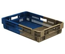 Drehstapelbehälter 600x400x127 perforiert • 22 Liter • Bi Color