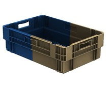 Stack nest container 600x400x183 closed • 34 Liter • Bi-Color