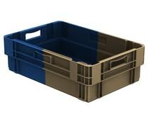 Stapel- en nestbare bakken 600x400x183 Gesloten, 34 Liter • Bi-Color