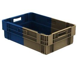 Drehstapelbehälter 600x400x183 geschlossen, 34 Liter, 2 Handgriffe • Bi-Color