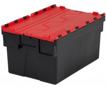 LOADHOG Distributiebak 600x400x400 rood • 77 Liter
