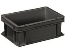 ESD Euro container 300x200x120 solid two handles