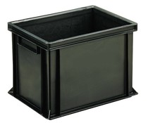 ESD Euro container 400x300x270 solid two handles