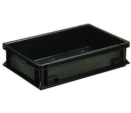 Eurobehälter 600x400x120 mm geschlossene Ausführung, geeignet für Versand, Lagerung und Schutz von elektronischen Bauteilen