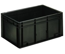 ESD Euro container 600x400x280 solid two handles