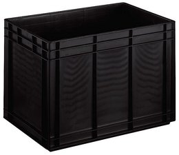 ESD Euro container 600x400x420 solid two handles, suited for handling of electronic components
