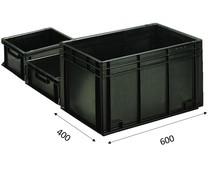 ESD Eurobehälter 600x400 mm