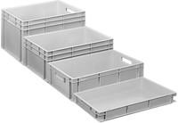 Plastic Euro stacking crates closed version
