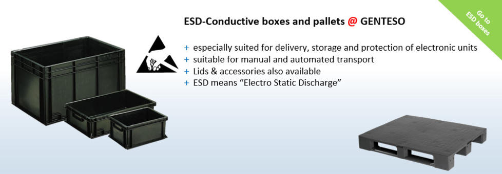 ESD, Conductive boxes and pallets