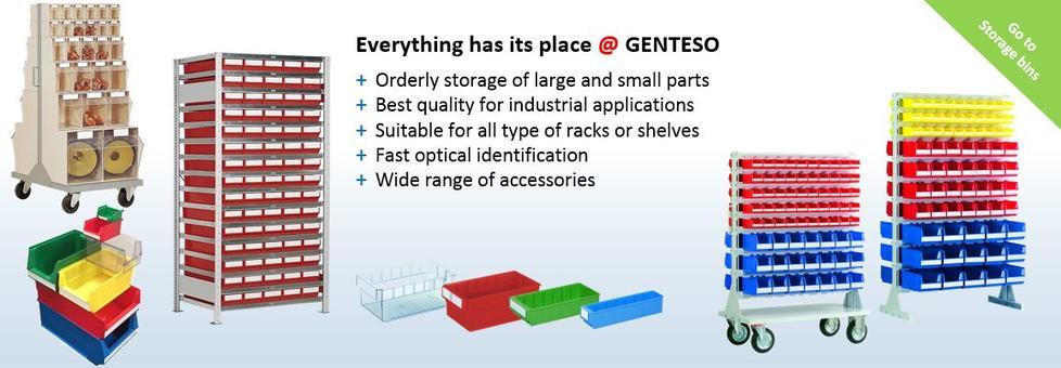 Storage bins, warehouse bins