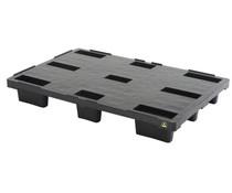 ESD Nestbare Exportpalette 1200x800x155 • geschlossenes Deck
