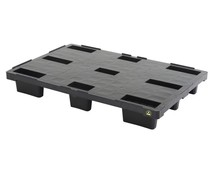ESD Plastic export pallet 1200x800x155 • closed deck - Copy