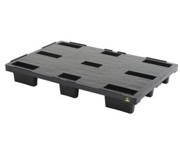 ESD-Plastic export pallet 1200x800x155 • closed deck • light weight - Copy