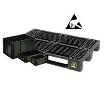 Elektrisch leitfähige Behälter & Paletten • ESD Lösungen