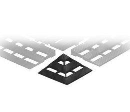 ESD Corner piece for conductive plastic floor tile