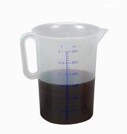 Kunststof maatbeker, 3 liter