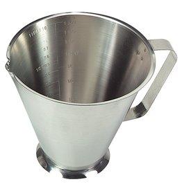 RVS maatbeker, 1 liter