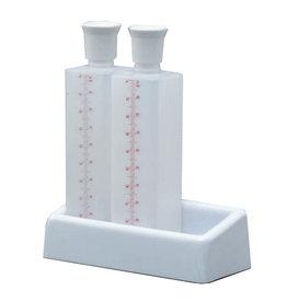 Tempereerfles vierkant,1 liter (op=op)