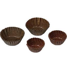Cupcake kuipje bruin, 28