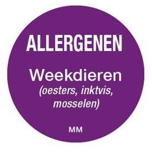 Allergenen etiketten - weekdieren