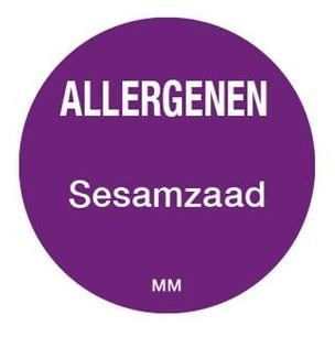 Allergenen etiketten - sesamzaad