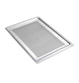 Aluminium bakplaat 435 x 320 mm - geperforeerd