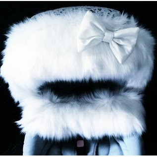 2 piece fur set for Buggy or pram